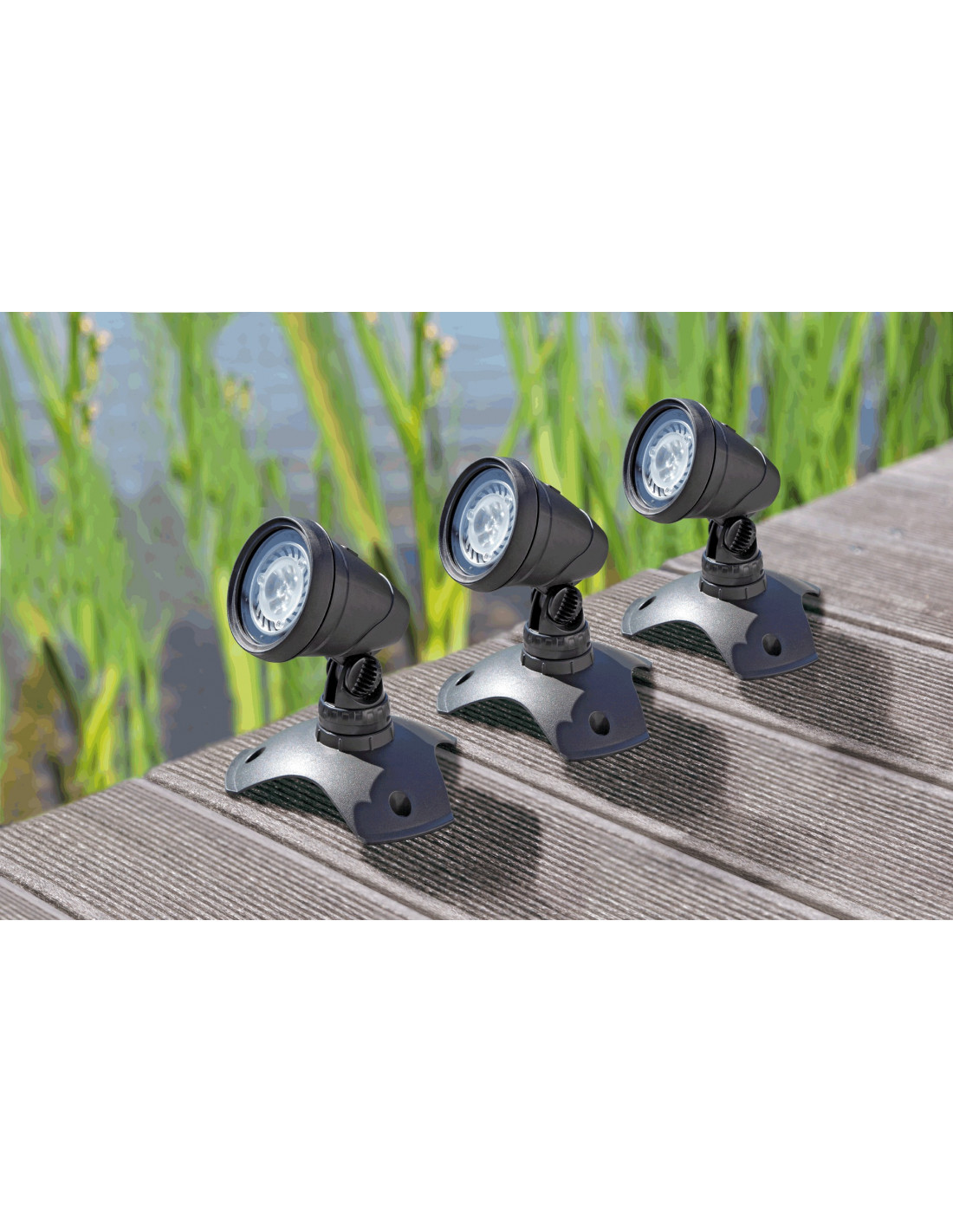 Lunaqua 3 led set 3 oase for Eclairage jardin led electrique