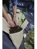 Poche à remplir de terre , planter , et couche gravier par dessus