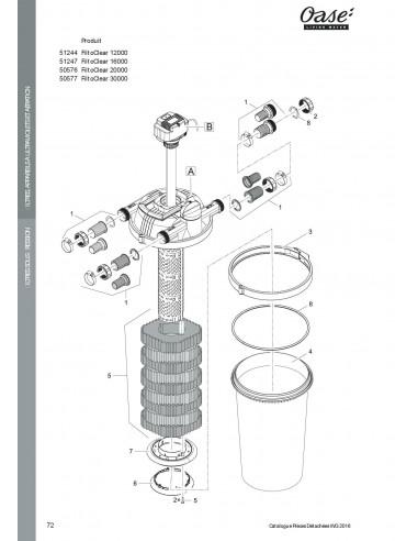 ca7623d82c7e5c Filtoclear 30000 Oase vue filtre (pièces détachées)