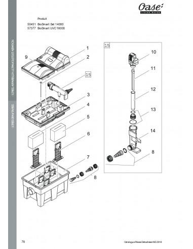 Biosmart UVC 16000 Oase (pièces détachées)