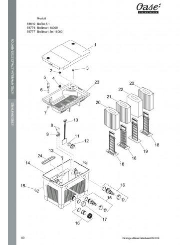 Biotec 5.1 Oase (pièces détachées)
