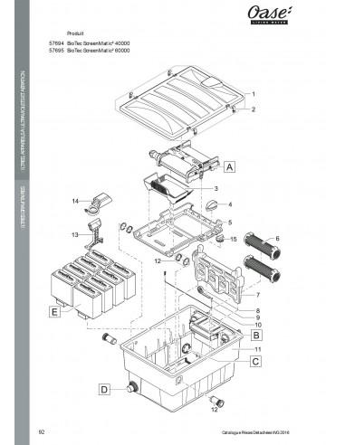 Biotec Screenmatic² 40000 Oase vue filtre  (pièces détachées)