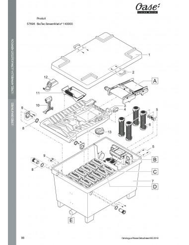 Biotec Screenmatic² 140000 Oase vue filtre (pièces détachées)