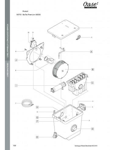 Biotec Premium 80000 Oase vue 1 (pièces détachées)