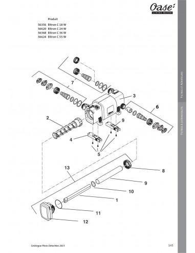 c9dc22b78811b1 Bitron C 18 W ancien modèle Oase (pièces détachées)
