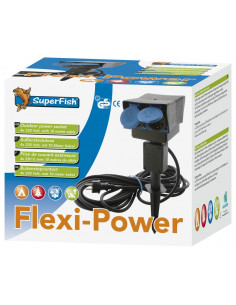Flexi power ralonge 4 prises 8 mètres Superfish