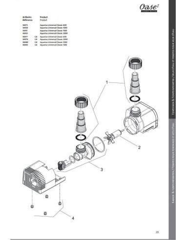 Aquarius Universal 600 Oase pièces détachées