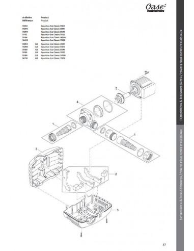 Aquamax Eco Classic 5500 Oase (pièces détachées)