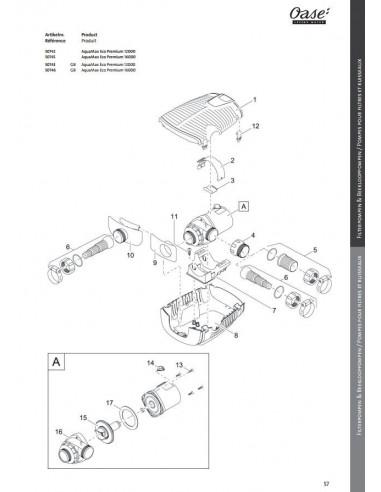 Aquamax Eco Premium 12000 Oase (pièces détachées)