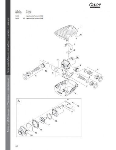 Aquamax Eco Premium 20000 Oase (pièces détachées)