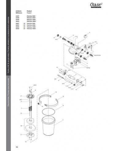 Filtoclear 3000 Oase (pièces détachées)