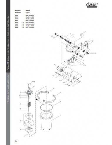 Filtoclear 15000 Oase (pièces détachées)