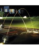 Combinaison de Jets d'eau lumineux de nuit