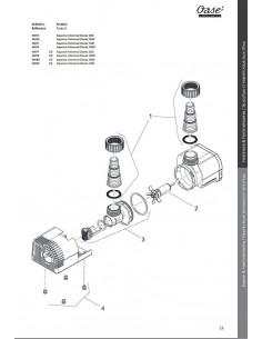 Volute d'aspiration Aquarius Universal 2000 Oase - Pièce n°3