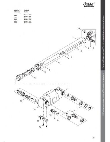 Verrou Bitron C 18/24/36/55 Oase pièce détachée - pièce n° 16
